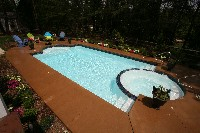 Caesars Palace Fiberglass Pool and Spa in Oak Hill, AL